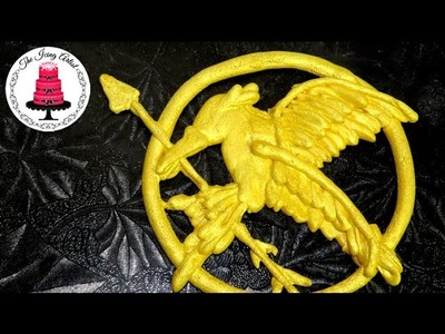 Hunger Games Cake Mockingjay Pin - How To With The Icing Artist
