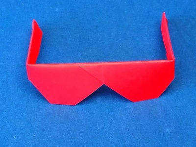 Origami Sunglasses.  How to make Traditional Origami Sunglasses