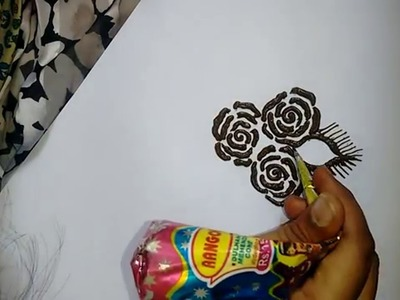 Beautiful roses mehndi design for hands-how to do easy roses with henna :Matroj Mehndi Designs