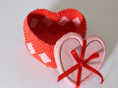 How To: 3D Origami Heart Box For Jewelry - Part 1
