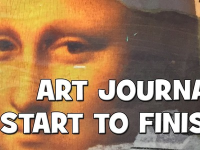 How to: Art Journal Page - Comfort Zone
