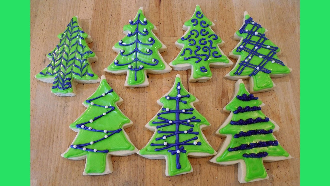 How to Decorate Christmas Tree Cookies 7 Ways with Jill