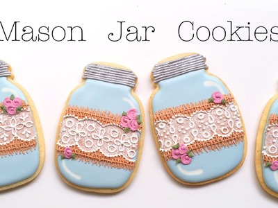 How To Decorate Mason Jar Cookies With Burlap and Lace!