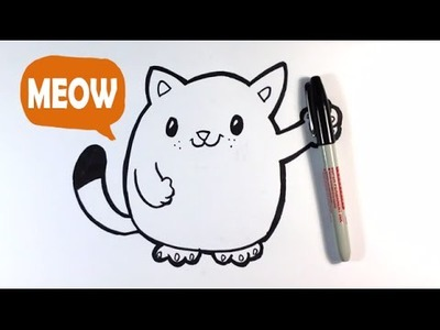 How to Draw a Cute Cat - Easy Pictures to Draw
