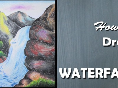 How to Draw a Waterfall with Oil Pastels [LONG VERSION]