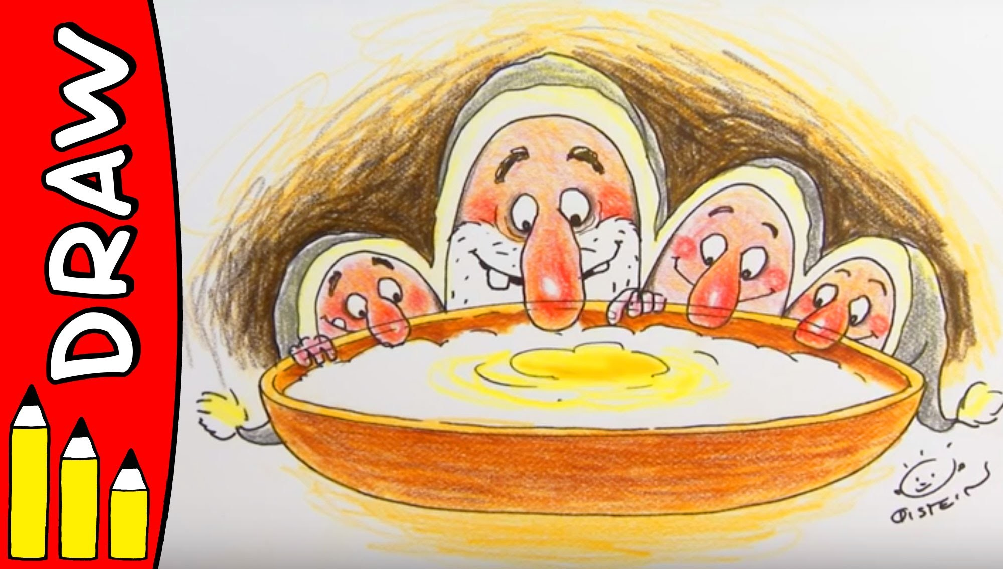 How To Draw Christmas Porridge | Christmas Art Ideas For Kids | Øistein Kristiansen