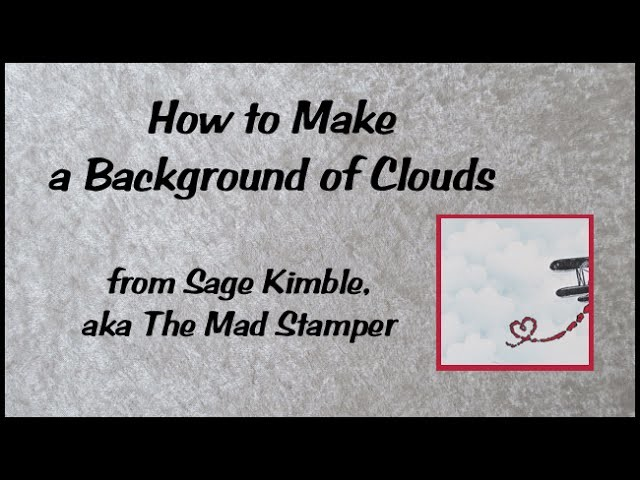 How to Make a Background of Clouds