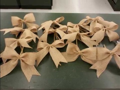 How To Make A Bunch Of Burlap Bow's Fast & Easy!