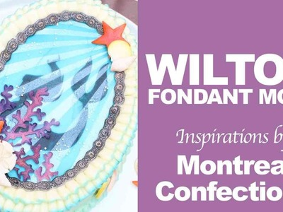 How to make a buttercream mermaid cake - Wilton Sea Life fondant mold