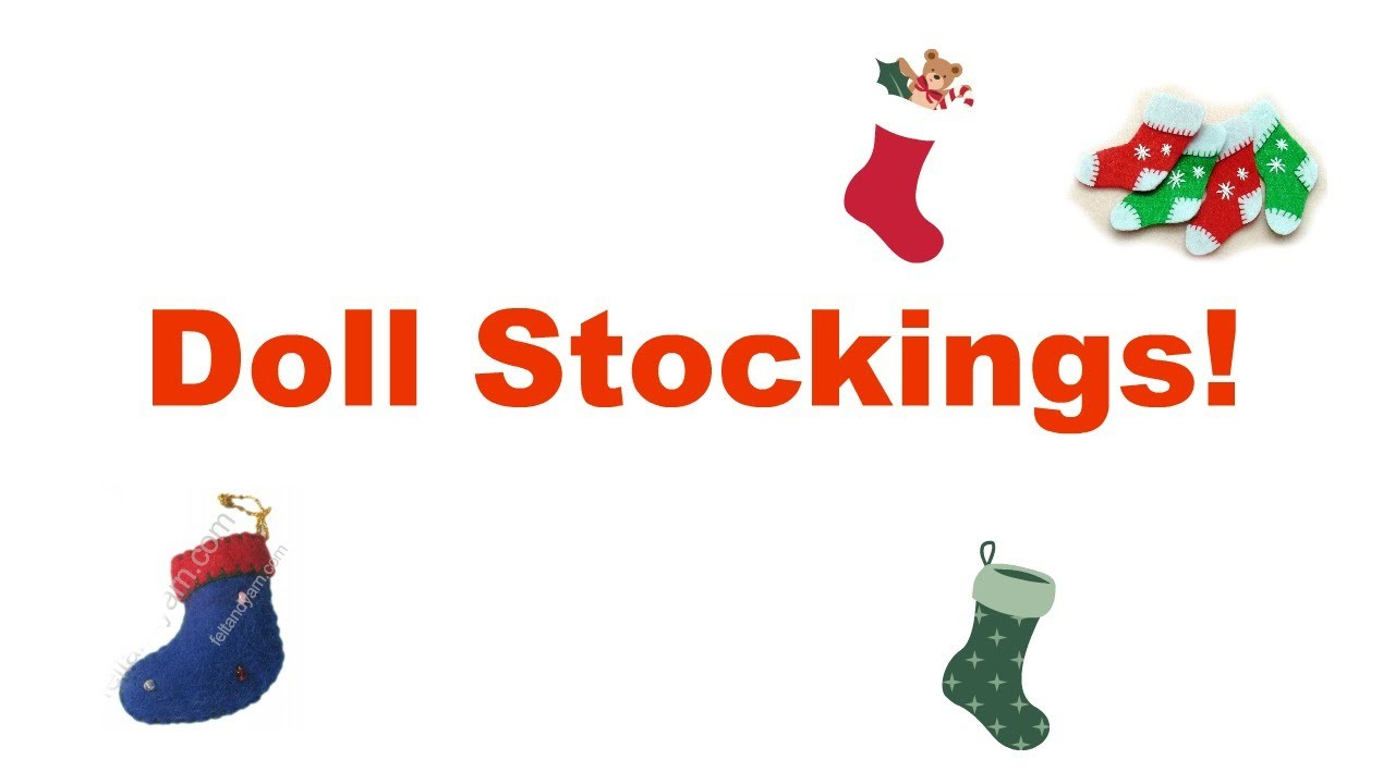 How to Make a Doll Christmas Stocking {plus barbie Advent Calendar!