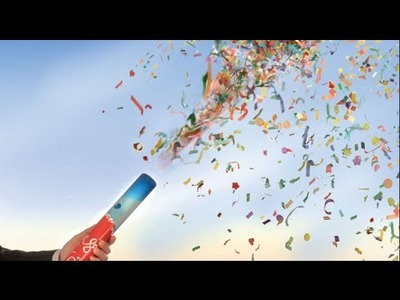 How To Make a New Year crackers for children with a syringe