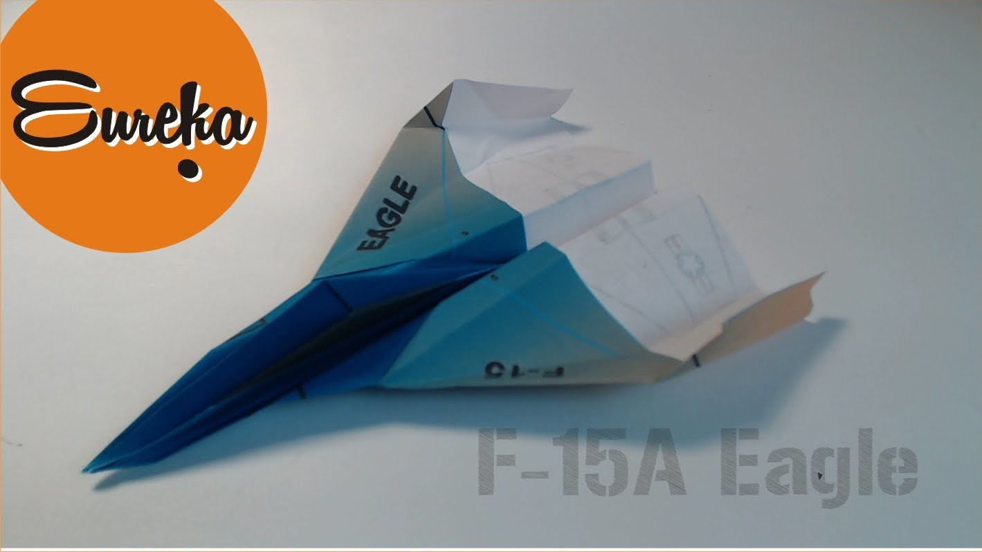 How to make a paper airplane │F15 Jet