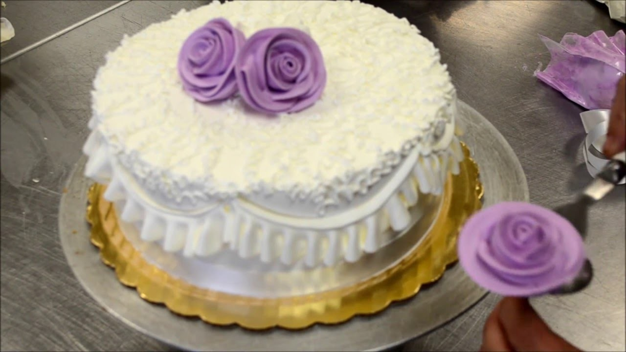 How to make a perfect and easy purple birthday cake tutorial