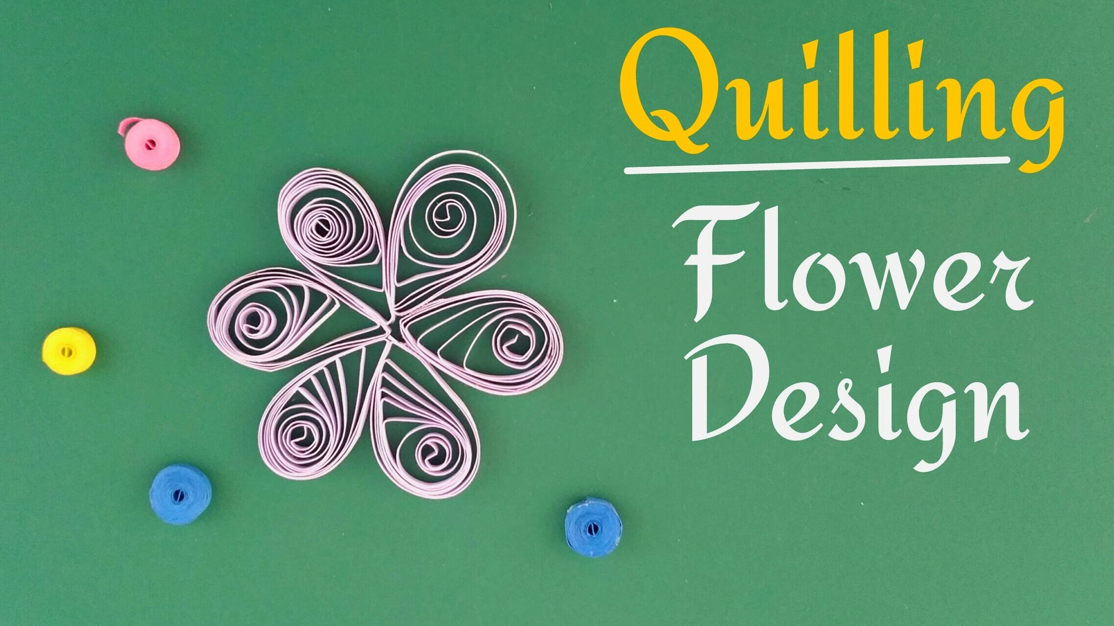 "How to make a quilling ""Flower design pattern"" - Paper Crafts tutorial"