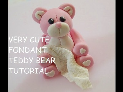 How To Make A Teddy Bear Cake Topper - Max's Cake Studio