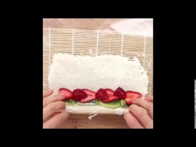 How to make Fruit Sushi?