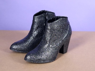How to Make Glitter Boots