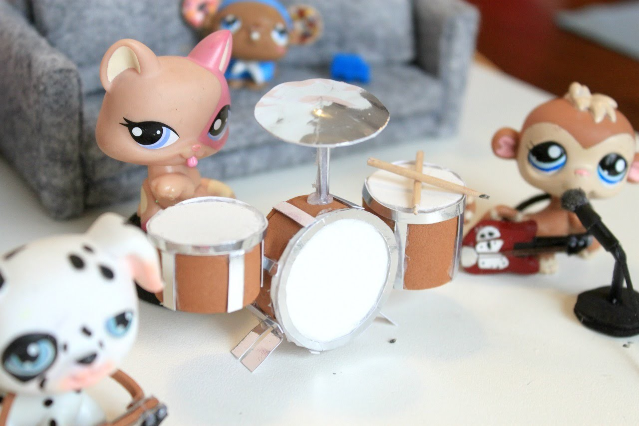 How to make LPS drums | How to make doll drums