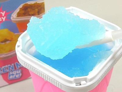 How To Make Slush Frozen Magic Slush Maker Cooking Toys   Kinder Surprise Toys
