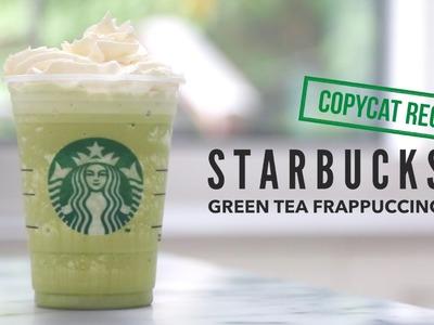 How to Make Starbucks Green Tea Frappuccino |  Copycat Recipe