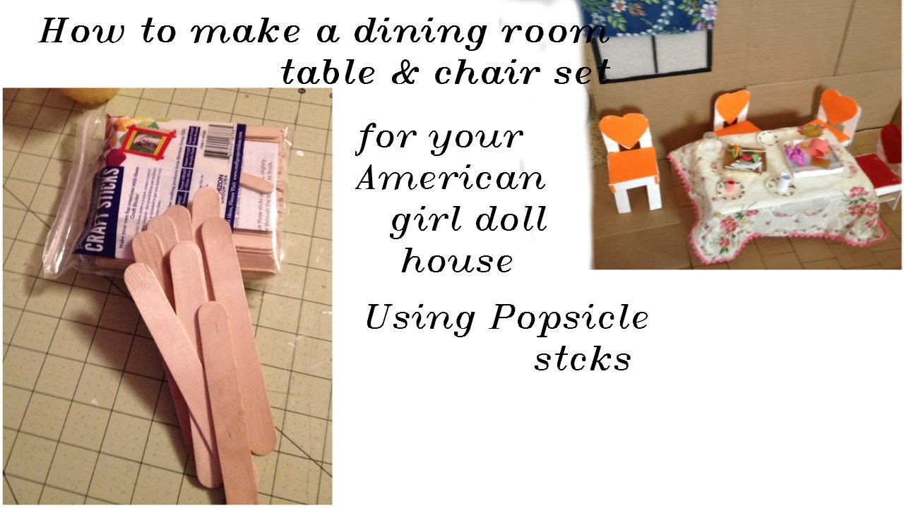 how to make table and chair dining room set using jumbo