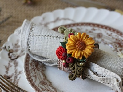 How to Make Woodland Cookie Napkin Rings