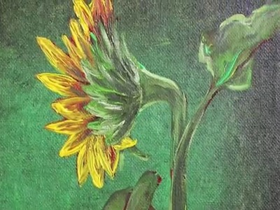 How to Paint a SUNFLOWER - Lesson #2 of