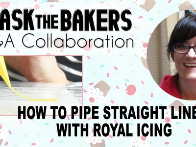 HOW TO PIPE STRAIGHT LINES WITH ROYAL ICING, HANIELA'S