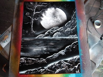 How to Spray Paint Art - Using up the Black & White