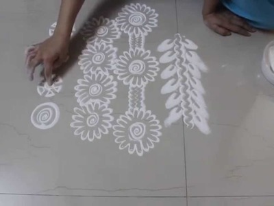 Instant  Rangoli Designs  - How to draw borders in Rangoli