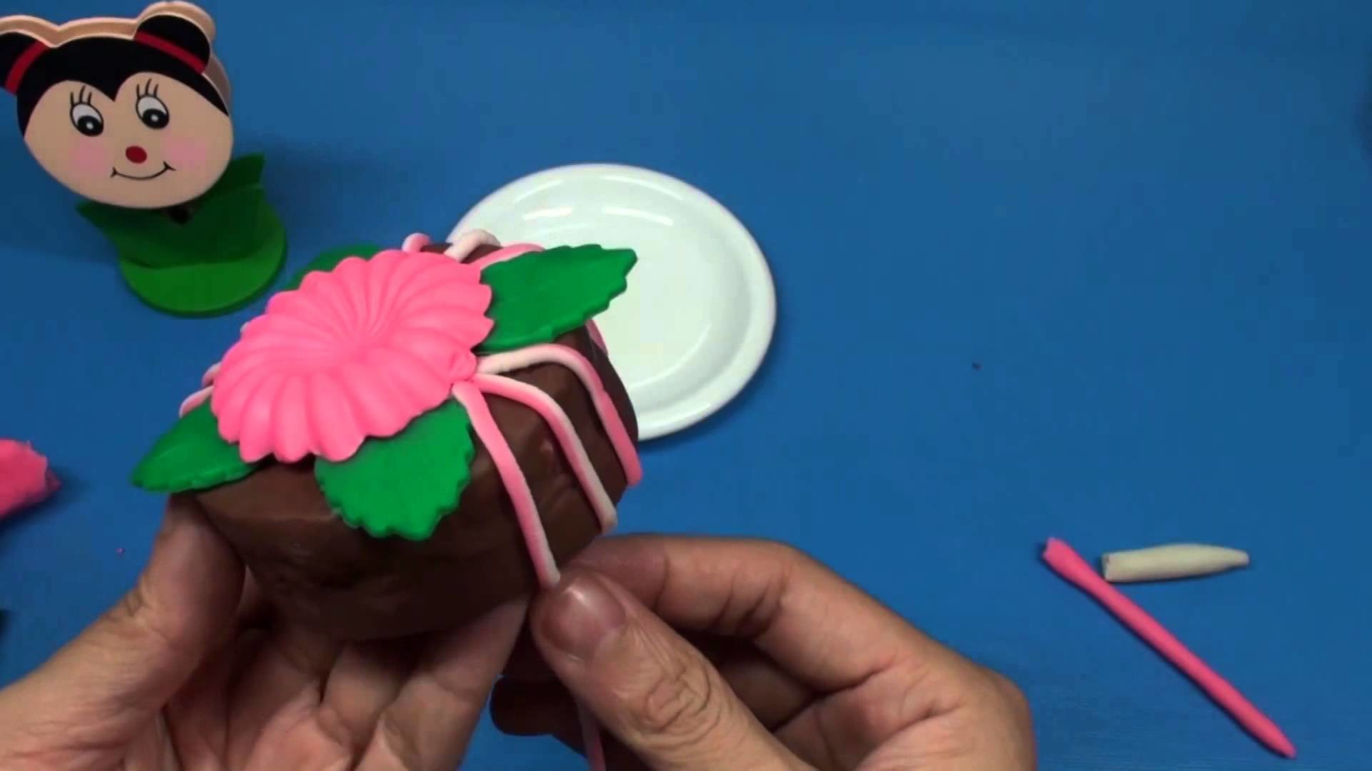 Kid's games - How to Make Birthday Cake Play Doh modeling clay Degree - Toy kids Full HD