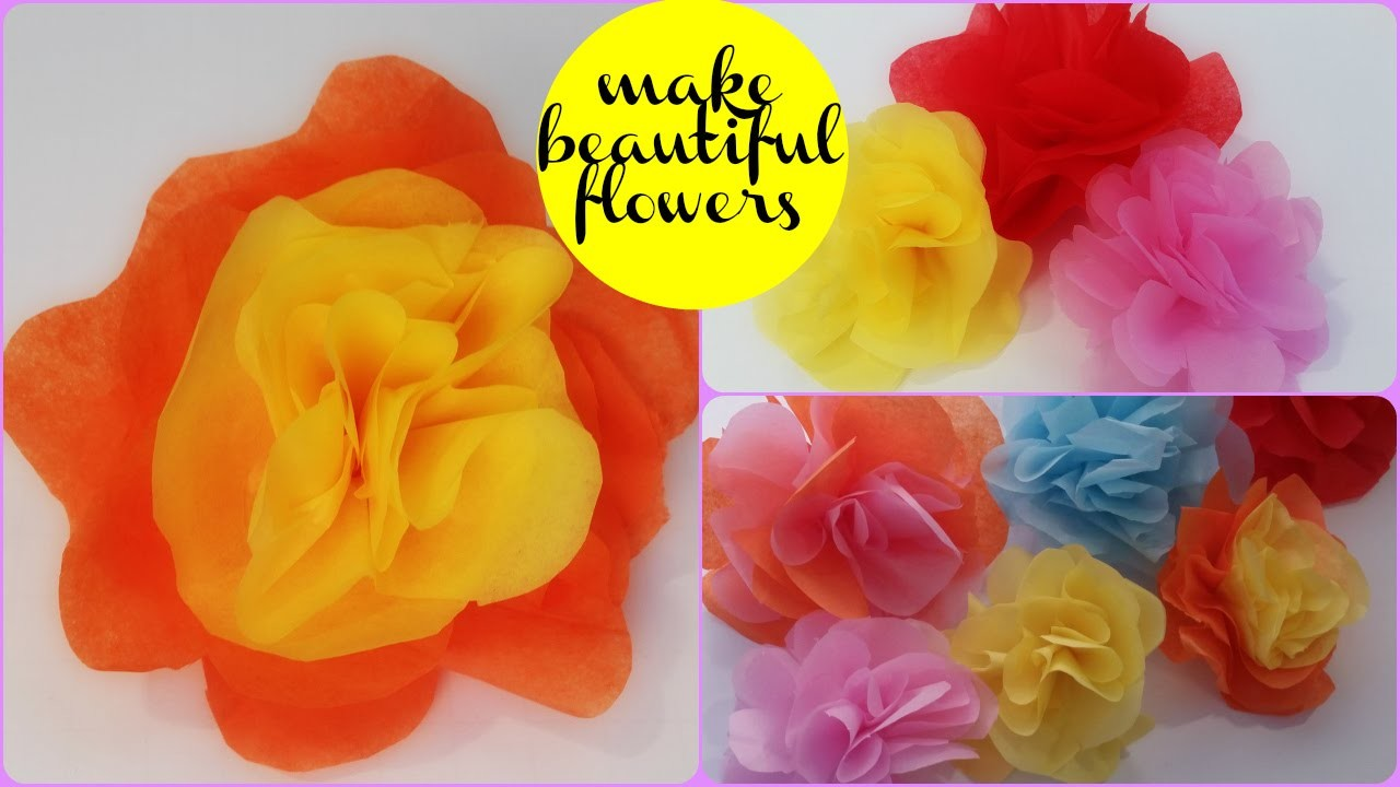 Paper Flowers Tutorial: How to Make a Paper Flower Rose in 3 Easy Steps