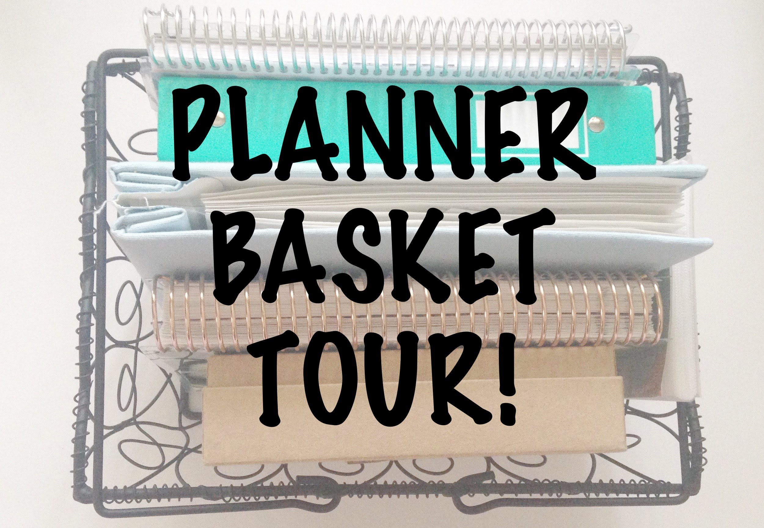PLANNER BASKET TOUR | How I Store My Daily Planning Supplies
