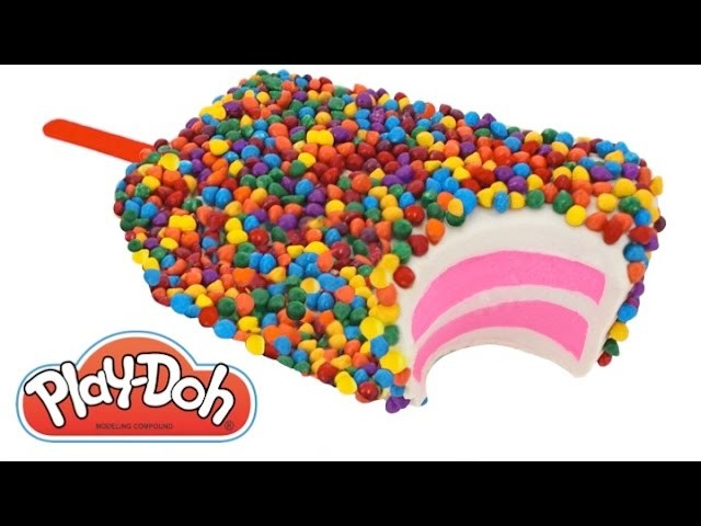 Play Doh How to Make a Giant Birthday Cake Ice Cream Popsicle RainbowLearning