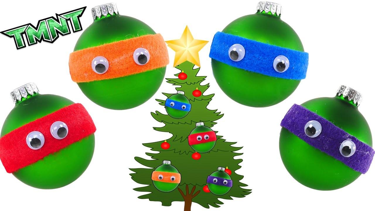TMNT Holiday Crafts - - - How to make Teenage Mutant Ninja Turtles Ornaments