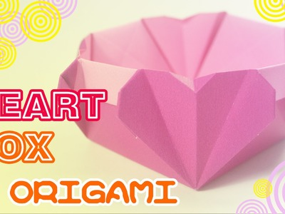 Valentine's day - How to make Origami Heart box - Easy origami