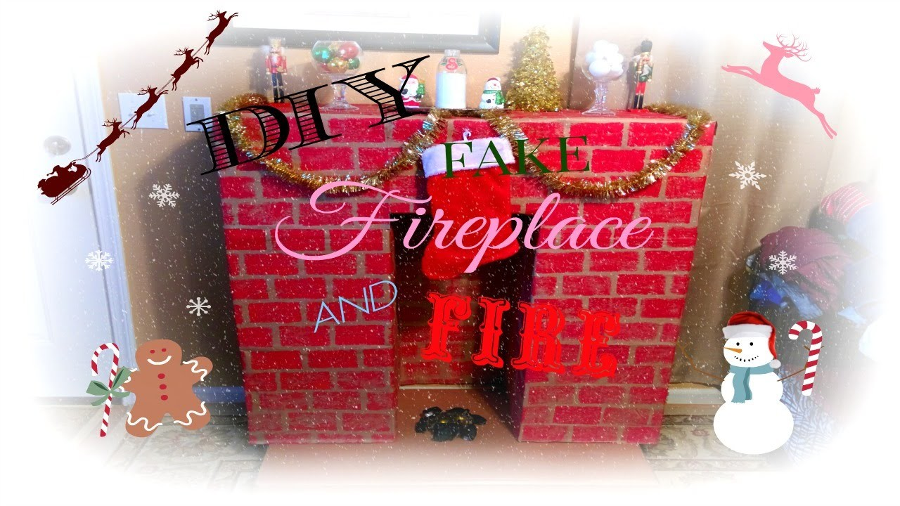 CHRISTMAS DIY ♥ PINTEREST INSPIRED FAKE FIREPLACE & FIRE