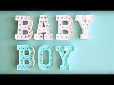 DIY Baby Shower Decor: Heidi Swapp Marquee Letters