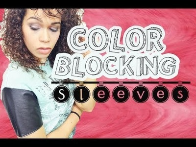DIY Color Blocking Sleeves - How to change sleeves to a T-shirt