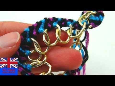 DIY Friendship Bracelet Chain Tutorial: How to Knot a Friendship Bracelet with a chain | DIY Ideas