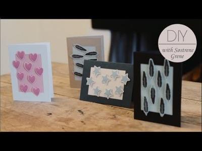 DIY: Invitations with block printing by Søstrene Grene