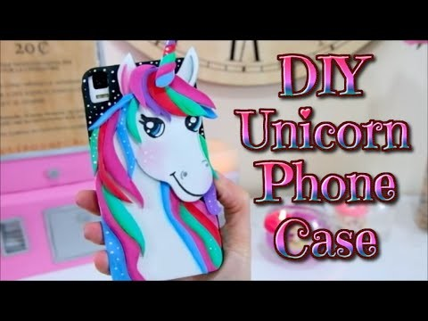 DIY | Kawaii Unicorn Phone Case Tutorial - Cover - cases - easy Crafts - Isa ❤️