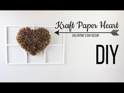 DIY Kraft Paper Heart . Corazon de Papel Kraft