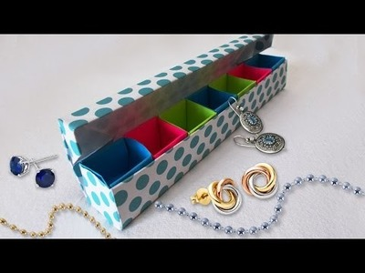 DIY Paper Craft : How to Make Colourful Paper Origami Jewellery Box