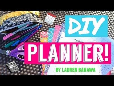 DIY Planner. Organized Notebook