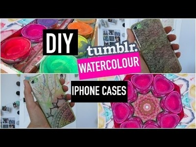 DIY tumblr watercolor iphone cases