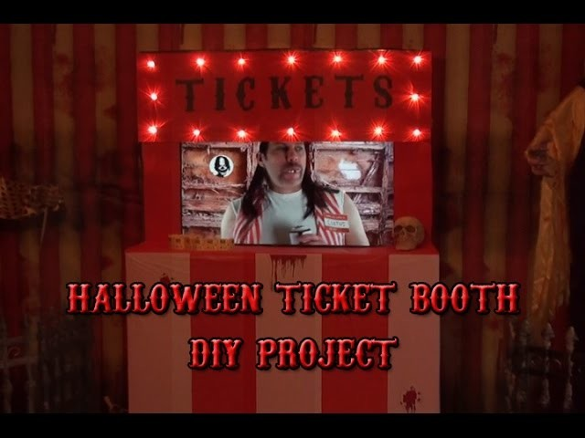 Halloween Ticket Booth DIY Project