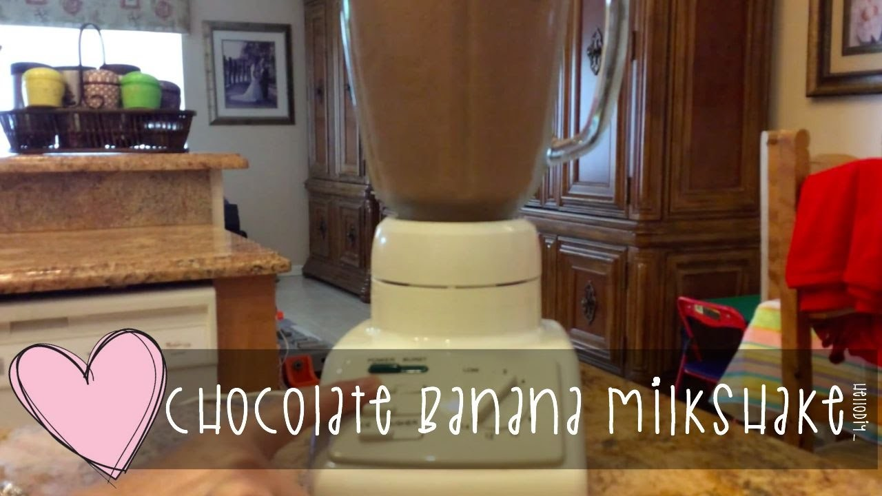 Hello DIY | Homemade Chocolate Banana Milkshake