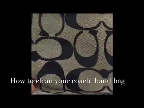 How to clean your Coach hand bag without spending a dime! (D-I-Y)