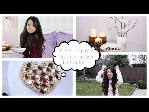 Winter Inspired Diy Decorations + Snacks